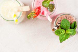 batido Herbalife de fresa y chocolate