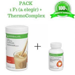 Compra BARATO aqui tu PACK Batido Fórmula 1 + Thermo Complete Herbalife