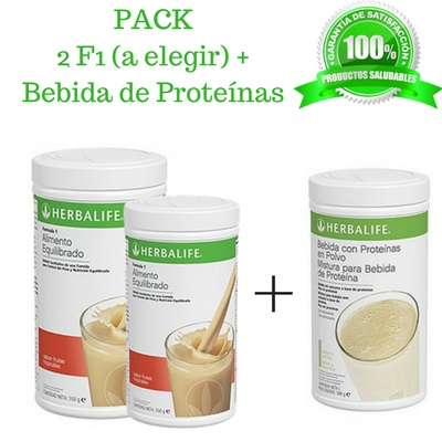 Compra BARATO aqui tu PACK 2 Batidos Formula 1 + proteinas